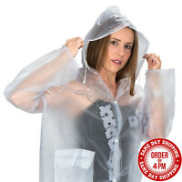 Clear Vinyl See Through Raincoat Transparent Festival Rain Coat PVC Raincoats