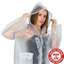 Clear Vinyl See Through Raincoat Transparent Festival Rain Coat PVC Raincoats
