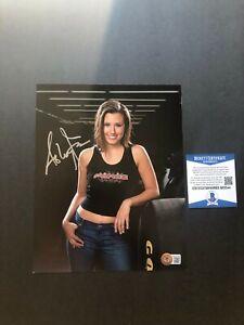 Ashley Force Hot! signed autographed NHRA John 8x10 photo Beckett BAS coa