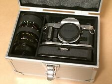 Canon AE-1 Program 35mm Film Camera w/ 50mm f/1.8, 28-80mm f/4.5 Lenses, Filters