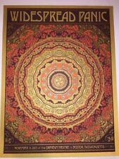 Widespread Panic Duval Poster Art Print Boston 2013 Gold Variant