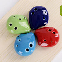 Color Mini Flute Kid's Toy Educational Ceramic Ceramic C Key 6 Hole Ocarina