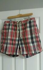 "Polo Ralph Lauren Mens Swim trunks, Montauk Plaid, Large w 6"" Inseam, Exc Cond"