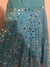 Blue mirror and shell design skirt- Bollywood or Belly dance