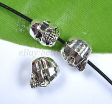 20pcs Tibetan Silver Horrific Skull Charms Spacer Beads 9MM B1349
