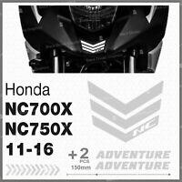 3pcs Rifrangenti ADESIVI Grigio Chiaro Honda NC 700 750 X 11 16 NC750X