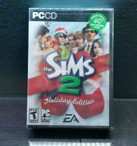 Rare The Sims 2 Holiday Edition PC CD NEW Factory Sealed Special Bonus 40 Items