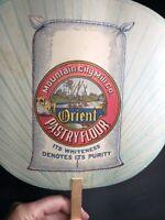 Orient Flour Advertising Fan Sign C 1920 Chattanooga Tn Mountain City Mill