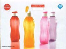2 XTupperware 1 Litre FlipTop Water Bottles Aquasafe Eco Sports New