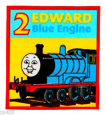 "3"" THOMAS THE TRAIN TANK EDWARD CHARACTER  FABRIC APPLIQUE IRON ON"