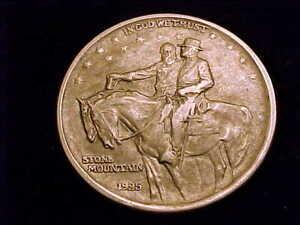 1925 Stone Mountain Commemorative Half Dollar, a nice Extra Fine grade coin.