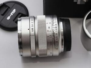 DHL Zhongyi Mitakon Speedmaster 17mm f/0.95 Lens f M4/3 Micro Four Thirds Silver