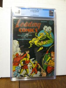 Leading Comics no. 7 (1943) DC Green Arrow CGC 4.0 Off-White to White pages
