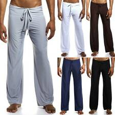 Men Pyjamas PJ Bottoms Sleep Pants Sleepwear Nightwear Loose Yoga Trousers NEW