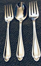 Pfaltzgraff BISCAYNE Stainless Two SALAD FORKS and One OVAL SOUP PLACE SPOON