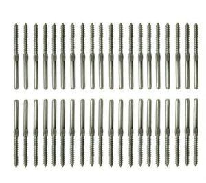 Stainless Steel Wire Balustrade KIt 3.2mm 20 set- Lag Screw Term L & R - 40 pcs