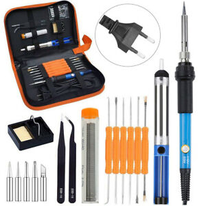 Fer à Souder Electronique Poste Soudure Kit 60W Température Réglable Réparation
