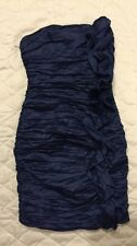 Bebe Dress Navy Blue Bodycon Size XS...stretchy And Sexy