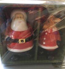 Santa And Reindeet Salt And Pepper Shakers New In Original Packaging