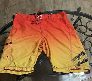 Billabong Platinum Stretch multicolored Orange board shorts Size 36