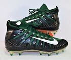 Nike Alpha Menace Elite Green  Black Football Cleats Sz 10.5 NEW 877140 310