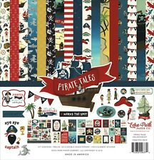 """New Echo Park PIRATE TALES 12"""" x 12"""" Collection Kit Scrapbook Card Paper 2/19"""