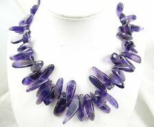 Natural SEDIMENT JASPER &amethyst Handmade Gemstone Jewellery Necklace PR_16