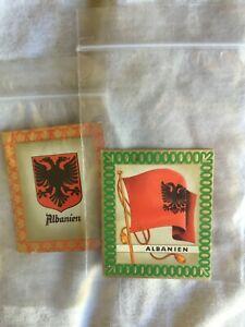 1936 AURELIA OLYMPIC FLAG CIGARETTE CARDS, 1936 BERLIN GAMES, ALBANIA