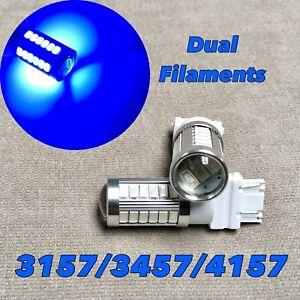 Front Turn Signal Parking Light BLUE SMD LED Bulb T25 3157 4157 33 SRCK W1 T JA