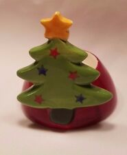 "Ceramic Christmas Tree Tea light Candle holder 3"" x 3"""
