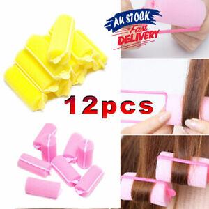 12PCS Magic Sponge Foam Cushion Hair Styling Tools AU Rollers Curlers  Twist