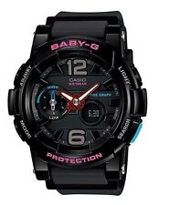 Casio Baby-G * BGA180-1B Anadigi GLide Black Glossy & Matte MOM17 COD PayPal
