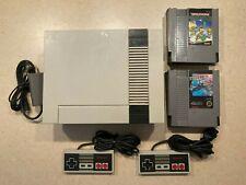 New listing Original Nintendo Entertainment System Bundle Nes - 2 Games 2 Controllers Rf