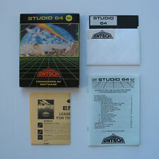 Entech Studio 64 complete in box music creator software 1984 (Commodore 64) C64
