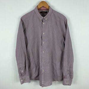 Ben Sherman Mens Button Shirt Size XL Slim Multicoloured Long Sleeve 57.09