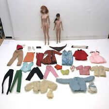 VINTAGE BARBIE LOT DOLLS CLOTHES Midge & SKIPPER