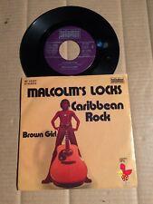 """MALCOLM'S LOCKS - CARIBBEAN ROCK / BROWN GIRL - 7""""-SINGLE - GERMANY 1975  (12)"""