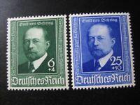 THIRD REICH Mi. #760-761 mint stamp set! CV $4.80