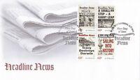 AFD1126) Australia 2013 Headline News set. Price: $4.00