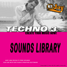 🥇eJay Techno 3 Sounds Library WAV samples, loops keys bass drum voice guitar,fx