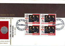 Used First Day Cover Maltese Stamps (1964-Now)