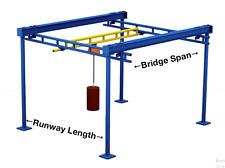 Gorbel 4000 Lb Workstation Bridge Crane 13 7 12 Span X 25 0 Runway