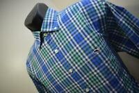 41812 Mens Vineyard Vines Whale Plaid Long Sleeve Tucker Dress Shirt Size Medium