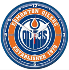 "Edmonton Oilers Official NHL Hockey Wall Clock 12.75"" Diameter"