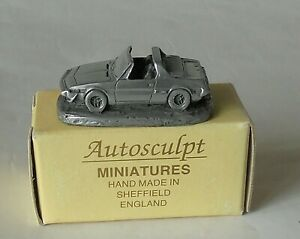 Fiat X/19 1500 Small Pewter Resin Model 1/87 Made in Sheffield Autosculpt
