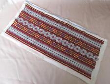 Vintage Folk Art Hand Embroidered Sampler For Pillow Case