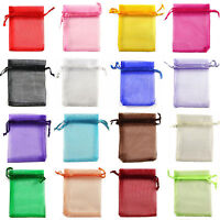 25/100X Utility Premium Organza Wedding Favour Gift Bags Jewellery Pouches 2Size