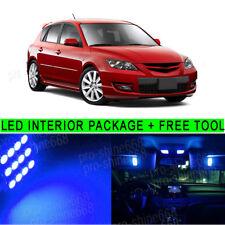 7PCS 10K Blue LED Light Interior Package Kit For2004-2009 Mazda 3 Hatchback PQ