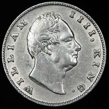 1835 C INDIA British Silver ONE 1 RUPEE Coin XF RS Incuse on Truncation KM#450.7