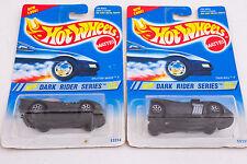 Pair Hot wheels Dark Ryder Cars Splittin' Image Twin Mill II (C5R) 7 Spoke 1995